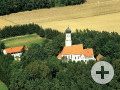 Luftbild der Wallfahrtskirche Maria Beinberg