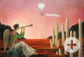 Sonja McBesch, Springtime, Öl auf Hartfaser, 1984