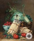 Victor Martin, Stillleben mit Spargel, Öl auf Leinwand, 19. Jahrhundert