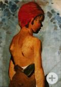 Bauernjunge mit roter Kappe
