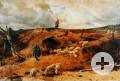 Johann Baptist Hofner: Schafe in der Sandgrube