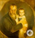 Franz von Lenbach und Tochter Gabriele