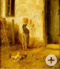 Johann Baptist Hofner: Junge malt an Hauswand