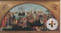 Darstellung einer Karake auf einem Gemälde das 16. Jahrhunderts