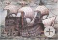 Abbildung der La Santa Trinidad, ein Schiff der Welserschen Südamerikaflotte, 1534/35