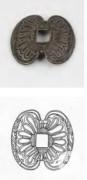 Verzierte Halterung aus Silber eines Degengriffs von der Dromadaire, 1762