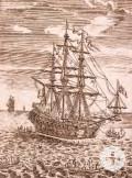 Darstellung einer spanischen Galeone aus dem  18. Jahrhundert