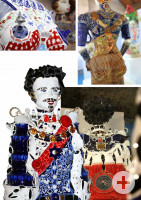 Mosaikfiguren mit Ludwig