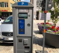 Parkautomat in der Innenstadt