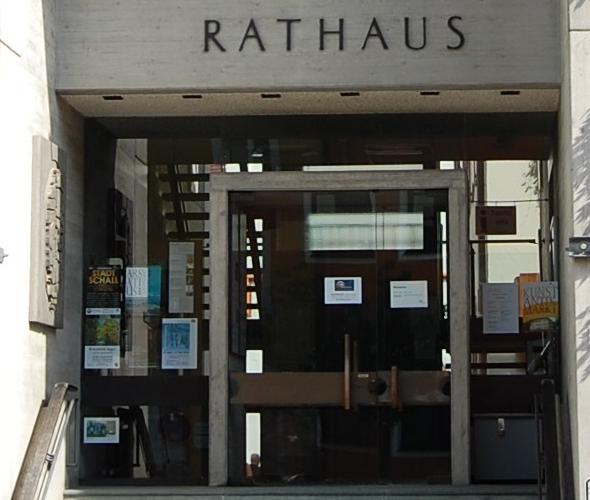 Eingangsbereich Rathaus Schrobenhausen